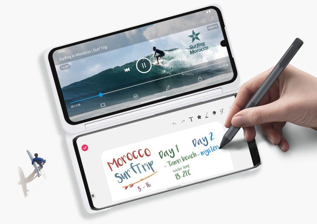 LG VELVET Dual Screen Pen 1